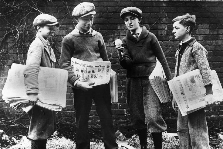 Newspaper delivery was the first rung on many an economic ladder.