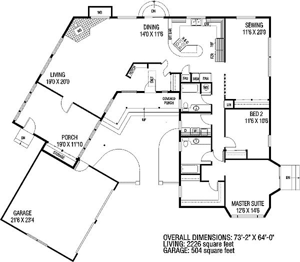 Plan 7851ld c shaped home plan house design and master for C shaped house plans