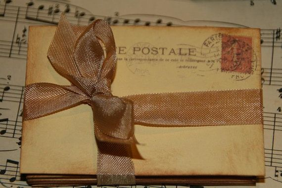 Wedding Guestbook Alternative - Vintage Paris Post Cards