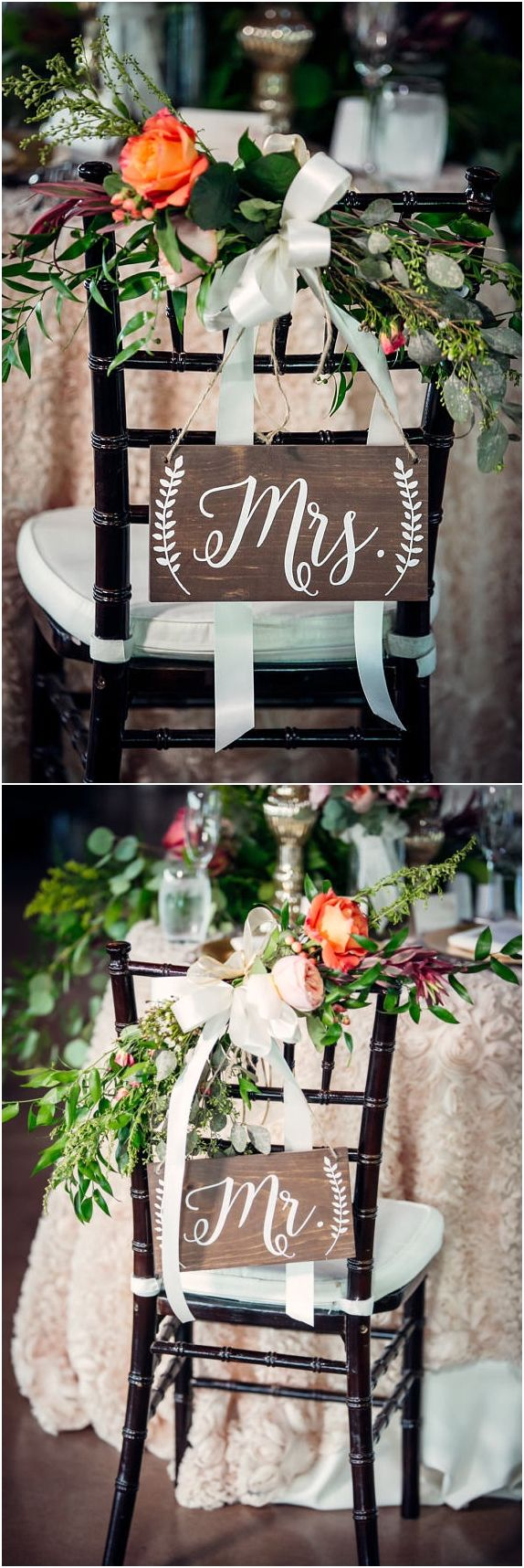 Mr And Mrs Wedding Chairs   I Love These! The Rustic Wedding Signs, White