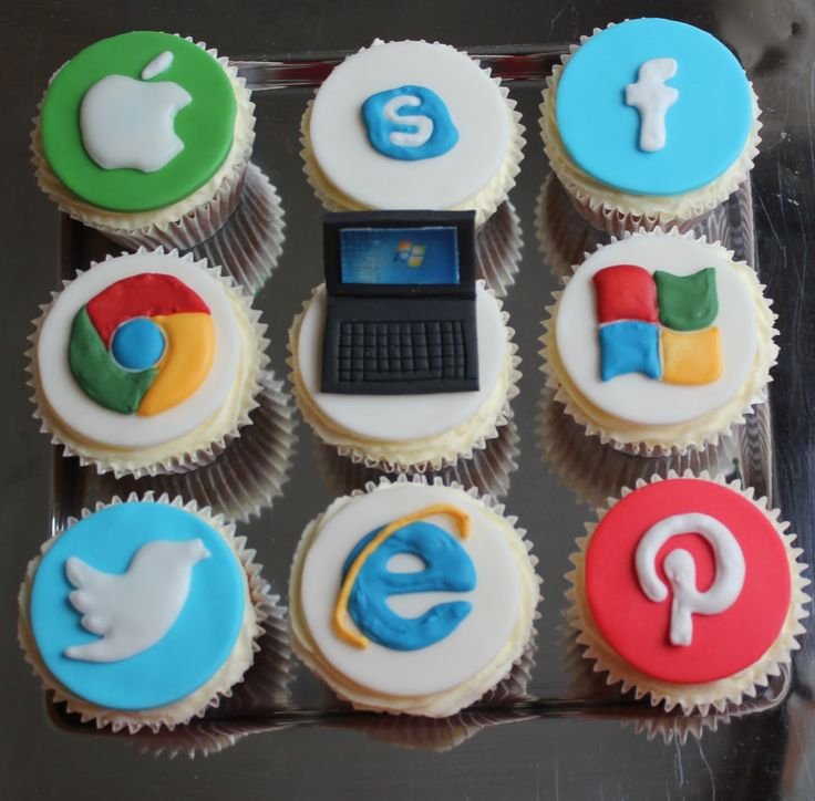 Crescent Cakes ~ by Kath: Computer themed cupcakes                                                                                                                                                      More