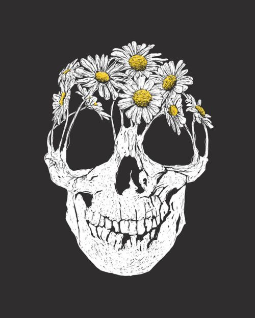 .Tattoo Ideas, Skull Tattoo, Flower Skull, Art Prints, A Tattoo, Push Daisies, Illustration Art, Flower Children, Skull Art