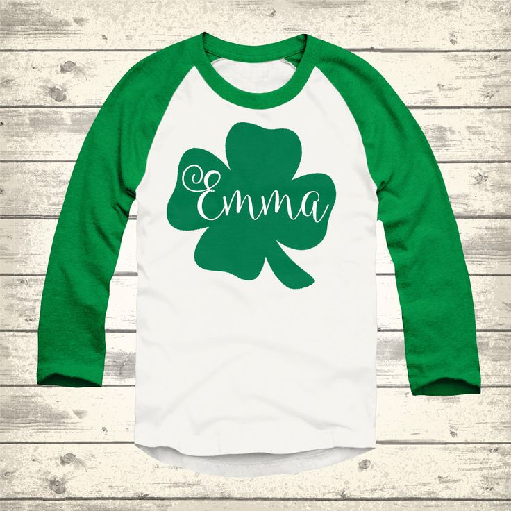 Clover St Patricks Day Raglan, Personalized St Patricks Day Shirt, Toddler St Patricks Day Shirt, Youth St Patricks Day Shirt, Irish Shirt by ThePaisleyPig501 on Etsy https://www.etsy.com/listing/267877493/clover-st-patricks-day-raglan