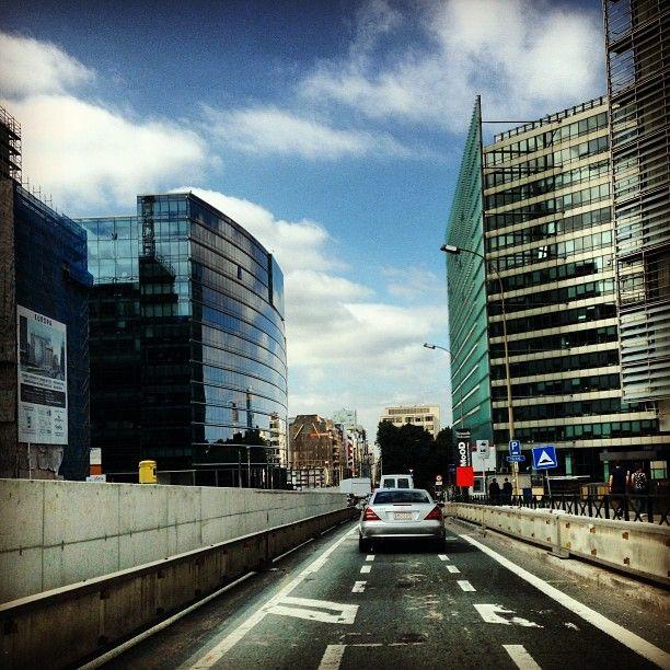 Rue de la Loi / Wetstraat in Brussel, Bruxelles-Capitale