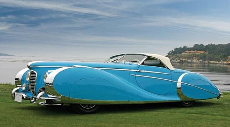 Belos Automóveis Antigos by Daniel Alho / Delahaye Type 175. Blue skirts