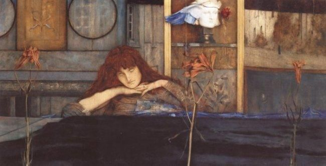 I Lock my Door upon Myself by Fernand Khnopff :: artmagick.com