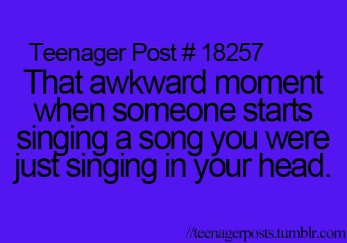 Yea...especially when its your crush and he/she is looking at you. That happened to me today with Jake From State Farm