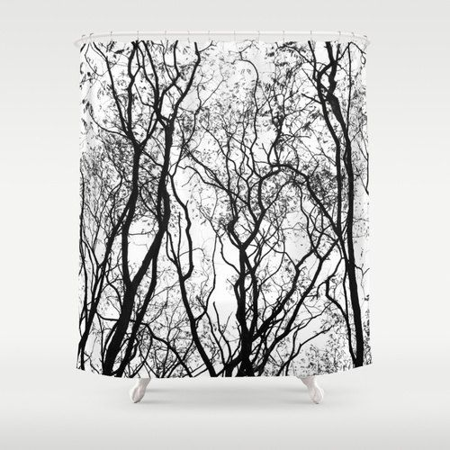 Shower Curtain  Woodland Shower Curtain  Rustic by CallaAndClover
