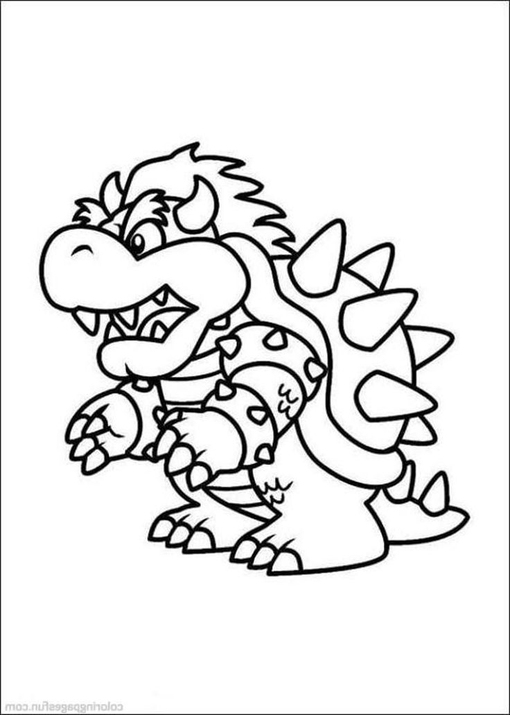 coloring pages super mario birthdays Pinterest