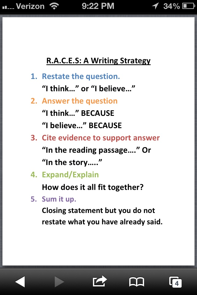 essay questions race