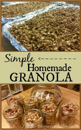 This is a basic, simple granola recipe that you can customize however you like. Click here to find out how to make it!
