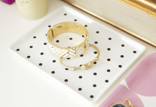 diy polka dot jewelry dish 2Diy Polka, Polka Dots, Gift Ideas, Diy Design, Diy Jewelry, Dots Jewelry, The Dots, Dots Dishes, Jewelry Dishes