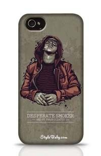 Desperate Smoker Apple iPhone 4 Phone Case