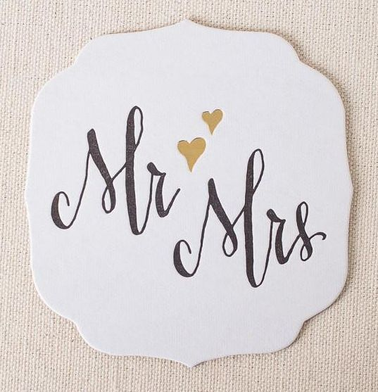 How Cute are these Mr. & Mrs. coasters?!?!