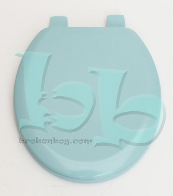 This Group 1 coloured toilet seat lid in Sky Blue colour is made from lacquered moulded wood with durable strong thermoset plastic adjustable hinges