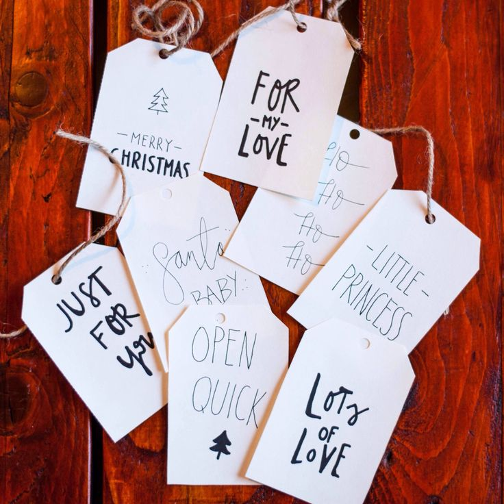 We just finished our new seasonal product: calligraphy Christmas gift tags!