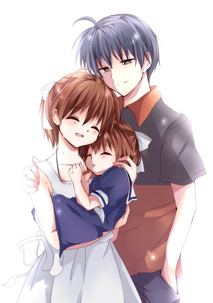 Tomoya, Nagisa and Ushio <3