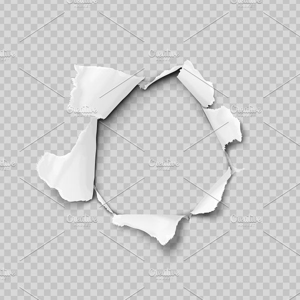 Torn Paper Realistic Torn Paper Transparent Background Sheet Of Paper