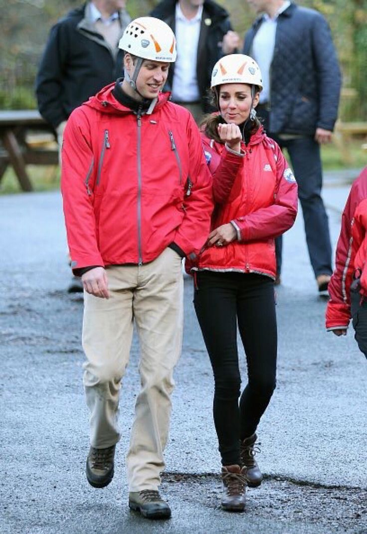 November 20, 2015 - Prince William and Catherine visit the Towers Residential Outdoor Education Centre in Capel Curig, Wales, an outdoor education centre run by Wolverhampton Council providing adventure activities for children.