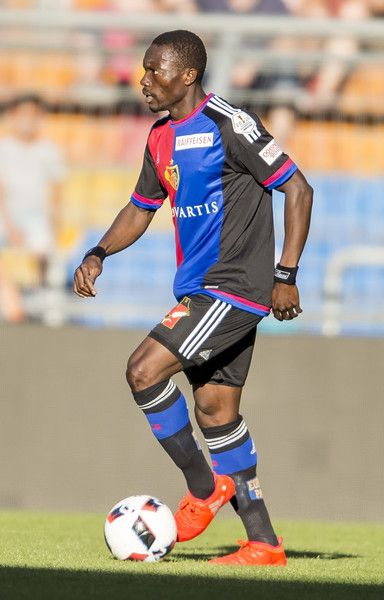 Adama Traore of FC Basel during the friendly match between FC Basel and VfL Wolfsburg at St. Jakob-Park on July 19, 2016 in Basel, Switzerland.