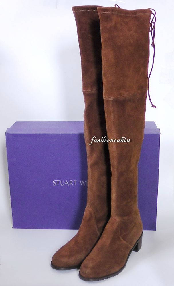 1caac14310a NEW Stuart Weitzman MidLand Suede over-the-knee boot Shoe~Walnut 7.5M   StuartWeitzman  OverKneeBoots