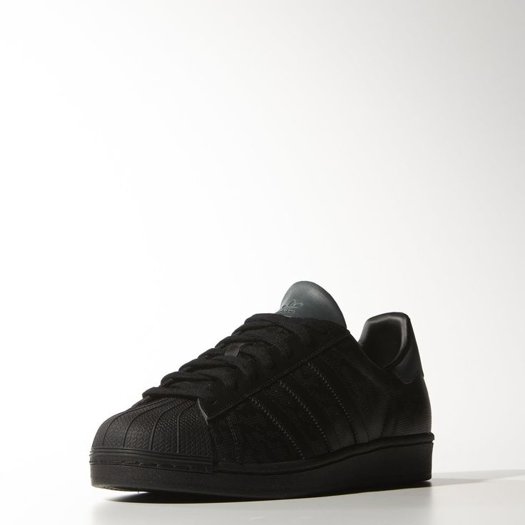 "Black adidas Superstar Shoes - ""CAMO 15"" with Laces"