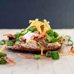 Inspired by the classic Loaded Baked Potato this Loaded Portobello Mushroom is delish!: Food Recipes, Stuffed Portobello, Low Carb, Loaded Portobello, Mushrooms Recipes, Mushrooms Inspiration, Classic Loaded, Loaded Baking Potatoes, Portobello Mushrooms