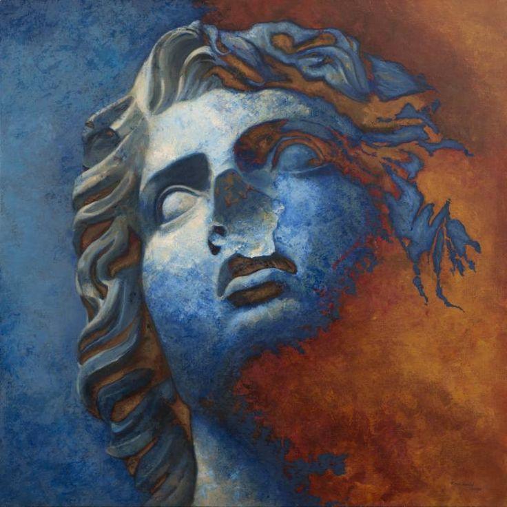 "Saatchi Art Artist Juan Manuel Álvarez Cebrián; Painting, ""Rostro_nº-1"" #art"