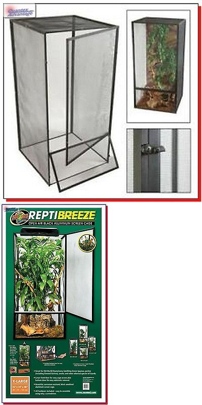 Reptile Supplies 1285: Best X-Large Screen Terrarium Habitat Reptile Tank Cage Lizard Snake Amphibian BUY IT NOW ONLY: $149.95