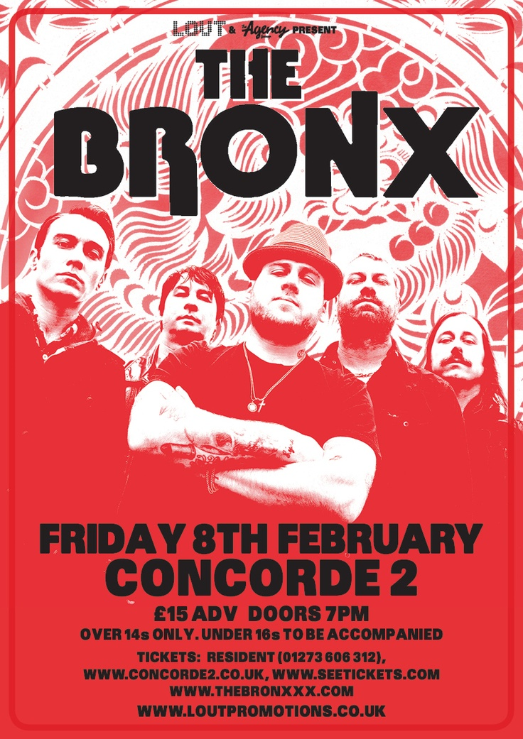 The Bronx will be tearing up the Concorde2 stage on Friday 8th February along with support from Single Mothers and Axis Of. Be sure to catch them just days after the release of their highly anticipated fourth album! Tickets are on sale for £15 + bf in adv from our website now: https://www.concorde2.co.uk/bookTickets.php?pageName=The+Bronx=2013-02-08