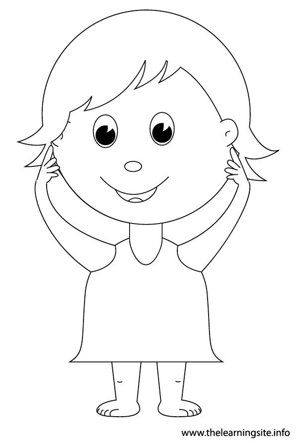 The Learning Site: Coloring Pages - Body Parts | Preschool ...
