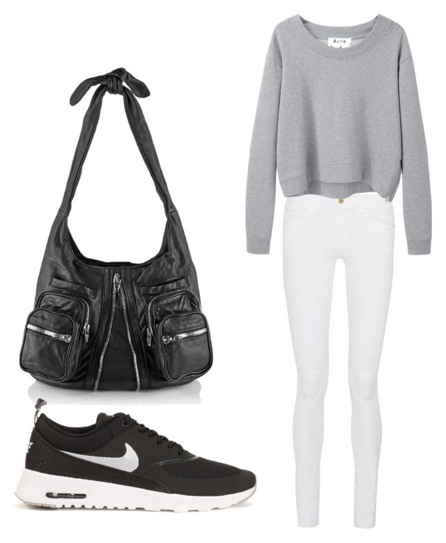 """""""Untitled #9"""" by hongjina on Polyvore featuring Alexander Wang, Frame Denim, Acne Studios, NIKE, women's clothing, women's fashion, women, female, woman and misses"""