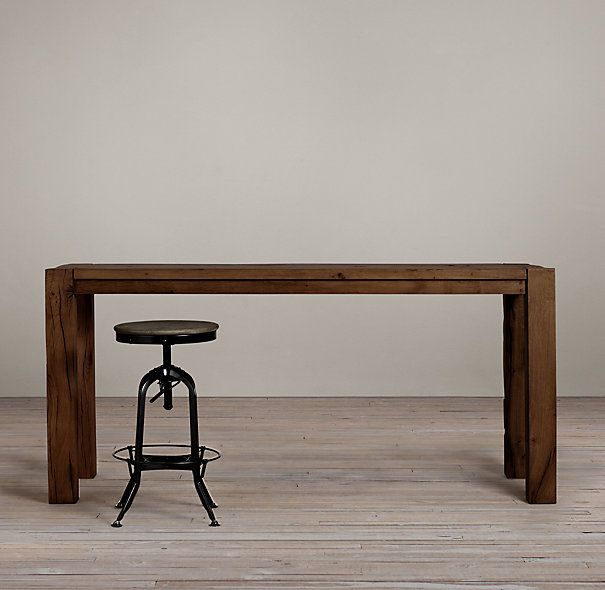 Parsons Russian Oak Counter Table Tables Restoration Hardware Ideas For The House Height Entryway