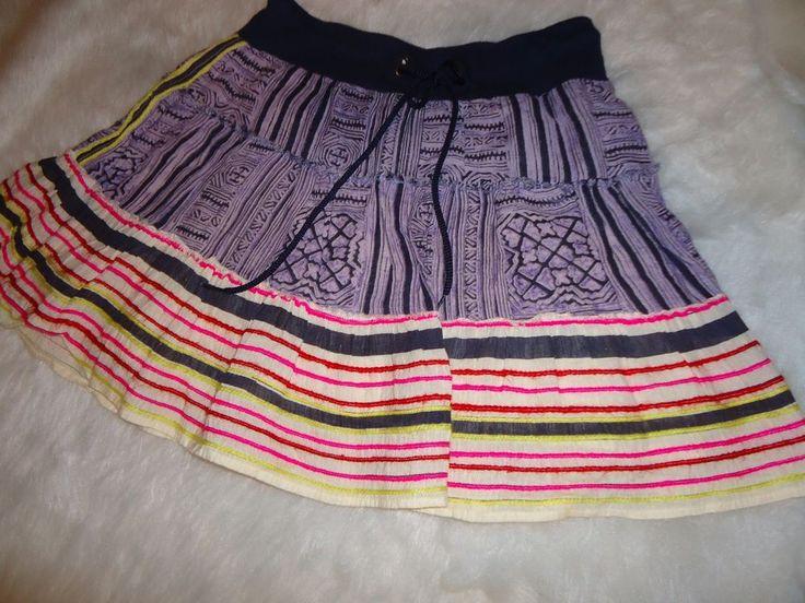 Womens Free People Boho Festival Skirt Medium Hippie Multi Color Casual  | eBay