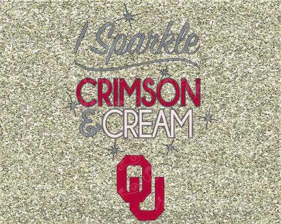 I Sparkle Crimson and Cream University of Oklahoma Sooners State Football Logo…