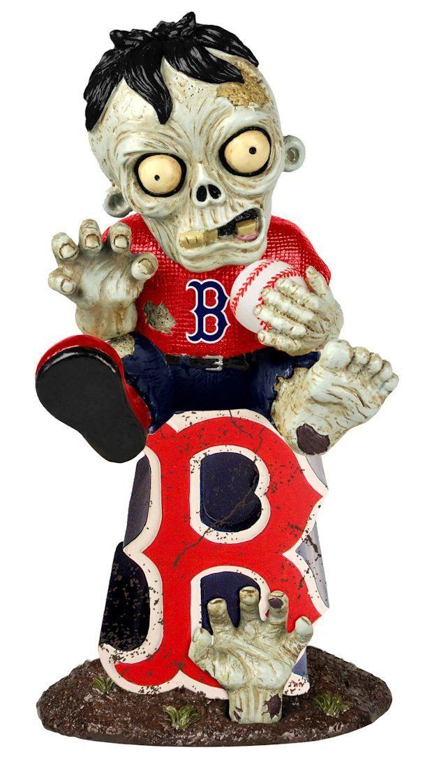 Boston Red Sox Zombie Figurine On Logo Boston red sox