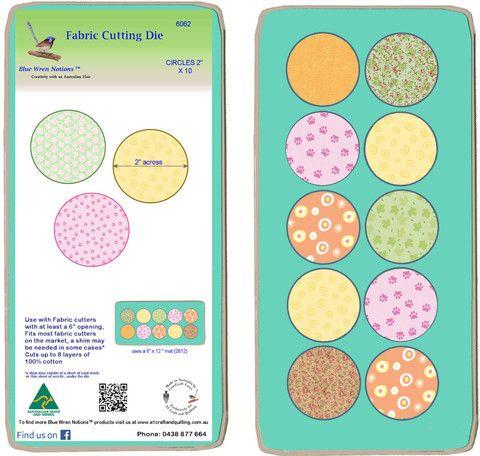 """Circles 2"""" - Multi x 10  - 6062 - includes cutting mat"""