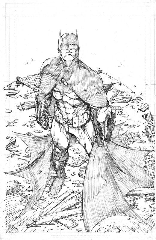 Brett Booth Batman Comic Art