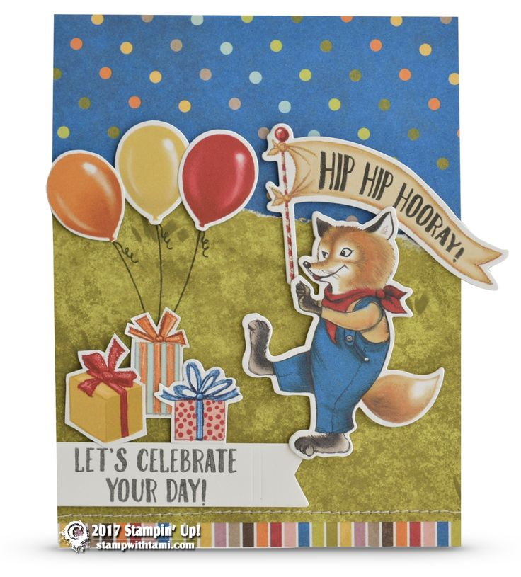 CARD Happy Birthday Delivery Fox Card Part 2 Of