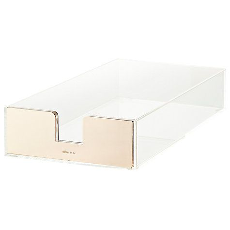 Buy kate spade new york Acrylic Letter Tray Online at johnlewis.com