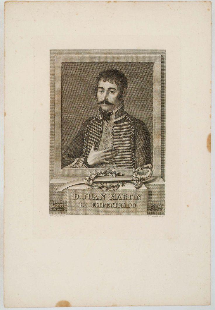 [Retrato de Juan Martín, el Empecinado] [Material gráfico] / B.ta Suñer lo dib. ; V.te Capilla lo G.º. publicado en Valencia : s.n., entre 1780 y 1800]