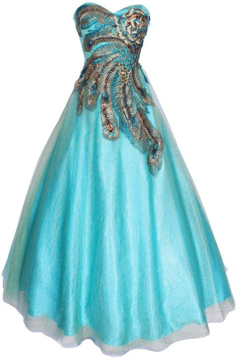 Prom Dresses 2014   ... plus size ball gown peacock dresses for long ball dresses feather