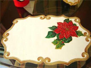 mantel navideño pintado a mano - Buscar con Google