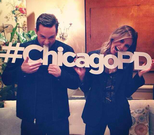 Jesse Lee Soffer (Detective Halstead) and Sophia Bush (Detective Lindsey) Chicago P.D. - Love this show!