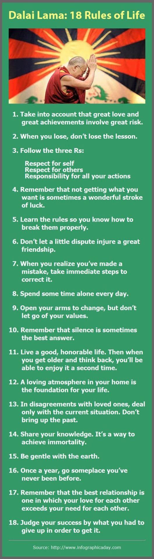Dalai Lama: 18 rules of life