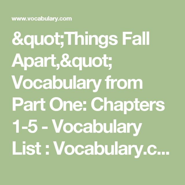 sophomore things fall apart ideas 1 Things fall apart homework help questions what was the most significant theme in achebe's things fall apart while there are several significant themes in things fall apart, such as individual.
