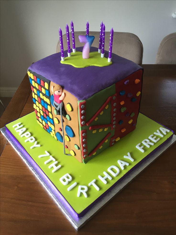 Clip n Climb Climbing Wall cake for Freya's 7th birthday