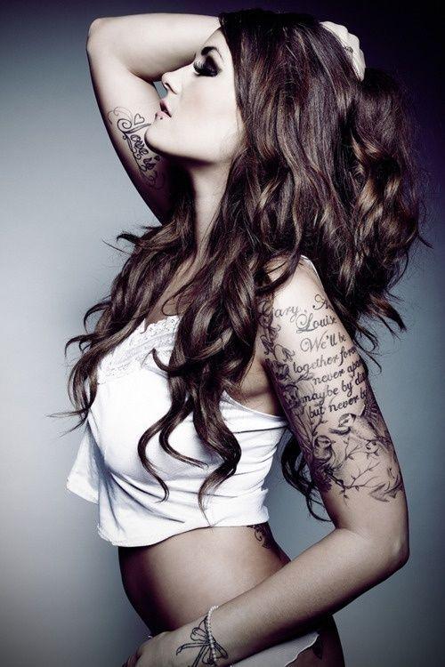 LOVE the tattoos rachelharvelandTattoo Ideas, Hair Colors, Sleeve Tattoo, Quotes, Half Sleeve, Halfsleeve, Arm Tattoo, Birds, Tattoo Ink