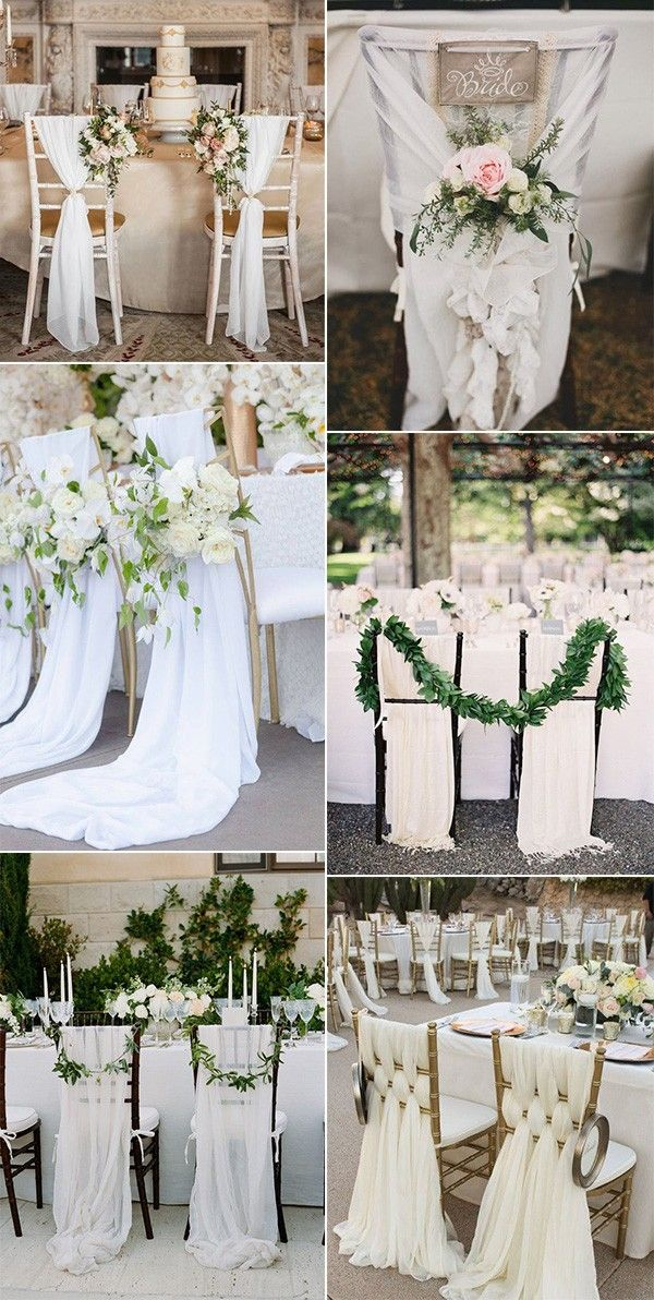 20 Elegant Wedding Chair Decoration Ideas With Fabric And Ribbons Page 2 Of 2 Oh Best Day Ever Wedding Chairs Wedding Chair Decorations Wedding Decor Elegant