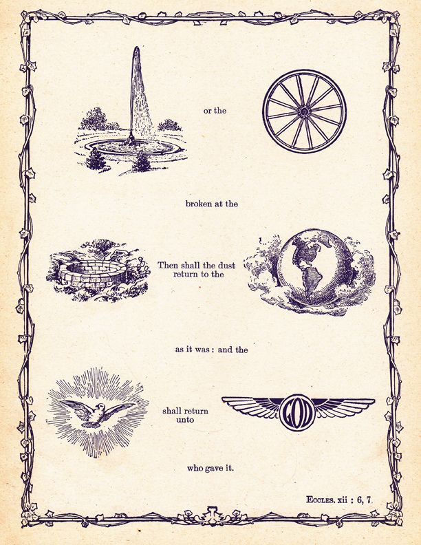 Bible Symbols or The Bible in Pictures illustrated by artist Frank Beard.In a book published in 1904 by Hertel, Jenkins & Co. are hundreds of rebuses which show the Bible narrative in symbols